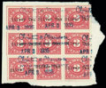 """Stamps, (R230 var) 3¢ Rose with provisional """"Silver Tax"""" typewritten overprints..."""