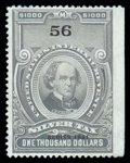 Stamps, (RG82) 1941 $1000 gray...