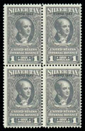 """Stamps, (RG95a, 95) 1942 $1 gray """"Series 5942"""" error..."""