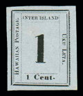 Stamps, (15) 1863, 1¢ black on grayish...