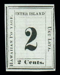 """(24b) 1864, 2¢ black, """"S"""" of """"POSTAGE"""" omitted"""