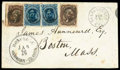 Stamps, (32) 1866, 5¢ blue...
