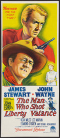 "Movie Posters:Western, The Man Who Shot Liberty Valance (Paramount, 1962). Australian Daybill (13"" X 30""). Western.. ..."