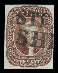 (12) 1856, 5¢ red brown
