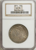 Bust Half Dollars, 1814 50C AU55 NGC. O-104a. NGC Census: (39/29244). PCGS Population(45/145). Mintage: 1,039,075. Numismedia Wsl. Price for ...