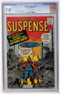 Silver Age (1956-1969):Science Fiction, Tales of Suspense #3 (Marvel, 1959) CGC FN/VF 7.0 Off-white towhite pages....