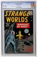 Golden Age (1938-1955):Science Fiction, Strange Worlds #4 (Marvel, 1959) CGC VF- 7.5 Off-white pages....