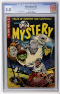 Golden Age (1938-1955):Horror, Mister Mystery #10 (Aragon Magazines, Inc., 1953) CGC VG/FN 5.0Off-white to white pages....