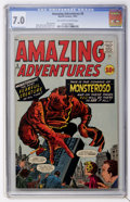 Silver Age (1956-1969):Horror, Amazing Adventures #5 (Marvel, 1961) CGC FN/VF 7.0 Off-white towhite pages....
