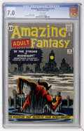 Silver Age (1956-1969):Mystery, Amazing Adult Fantasy #13 (Marvel, 1962) CGC FN/VF 7.0 Whitepages....