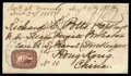 Stamps, 1858 (Aug. 6) Washington D.C. to Hong Kong China...