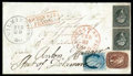 Stamps, 1857 (Feb. 20) Wilmington Del. to Sisorndorf, Wurtemburg...
