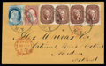 Stamps, 1857 (Apr. 9) Albany N.Y. to Aberdeen Scotland...