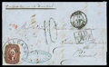 Stamps, 1857 (Mar. 28) New Orleans La. to Intra, Piedmont (Sardinia)...