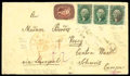 Stamps, 1857 (Aug. 19) New Haven Ct. to Vevey Switzerland...
