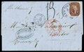 Stamps, 1856 (Sep. 9) New Orleans La. to Nantes France...