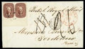 Stamps, 1856 (Dec. 5) New Orleans La. to Bordeaux France...