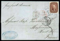 Stamps, 1857 (Jan. 18) New Orleans La. to Massevaux France...
