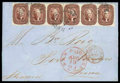 Stamps, 1857 (Aug. 12) New Orleans, La. to Port Vendres France...