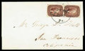 Stamps, 1857 Pa. to San Francisco Cal....