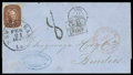 Stamps, 1857 (Feb. 21) Tabasco Mexico to Bordeaux France via New Orleans...