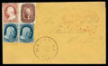 Stamps, 1858 (Aug. 13) Palatine Ill. to Forestville Canada...