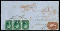 Stamps, 1856 (Jun. 12) Milwaukee, Wis. to Marburg, Hessen (Thurn and Taxis)...
