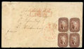 Stamps, 1856 (Sep. 27) Wilmington Del. to Sisorndorf, Wurtemburg...