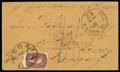 Stamps, 1856 (Oct. 31) Peoria Ill. to Eperies, Hungary (Czechoslovakia)...