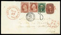Stamps, 1856 (Mar. 27) New Bedford Ms. to Paris France...