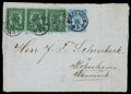 Stamps, 1875 (12 May) folded letter from Åbo to Copenhagen (15.5) via Stockholm...
