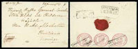 1856 (30 Dec.) envelope from Fredricshamn to Christiania via Stockholm (17.1.57)
