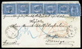 Stamps, 1868 (30 Jun.) envelope from Wiborg to Christiania (8.7)...