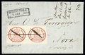Stamps, 1858 (1May) folded letter from Björneborg to Nora...