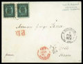 Stamps, 1872 (16 Sep.) folded cover from Helsinki to Cette (21.9) via St. Petersburg (17.9) and Paris (20.9)...