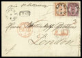 Stamps, 1870 (8 Apr.) folded letter from Borgå to London (14.4) via St. Petersburg (11.4)...