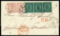 Stamps, 1871 (11 Jan.) folded letter from Åbo to London (18.1) via St. Petersburg (14.1)...