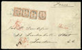 Stamps, 1871 (9 Oct.) large envelope from Åbo to London (16.10) via St. Petersburg (12.10)...