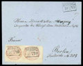 Stamps, 1859 (15 Apr.) envelope from Wiborg to Berlin (24.4)...