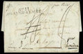 Stamps, 1812 (2 Oct.) folded letter from Moscow the The Haag (1.12)...