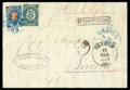 Stamps, 1874 (11/23 Feb.) folded letter from Constantinople to Livorno via Odessa (13/25.2)...