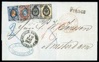 1867 (18/30 Mar.) folded cover from St. Petersburg to Amsterdam (2.4)