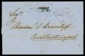 Stamps, 1858 (17 July) envelope to Constantinople (21.7)...