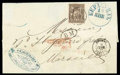 Stamps, 1877 (18 Jan.) folded cover from Kerrasunde to Marseille (15.2)...