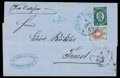 Stamps, 1875 (1 Dec.) folded cover from Constantinople to Trieste (19.12) via Odessa (4.12) and Vienna (18.12)...
