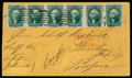Stamps, (35) 1859, 10¢ green, type V...