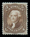 Stamps, (76) 1863, 5¢ brown...