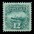 Stamps, (117) 1869, 12¢ green...