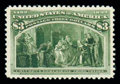 Stamps, (243a) 1893, $3 Columbian...