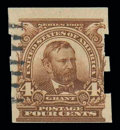 Stamps, (314A) 1908, 4¢ brown, Schermack type III perforations...